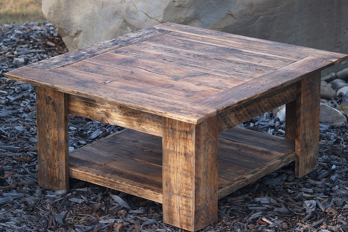 Reclaimed Barnwood Coffee Table Magenta Home